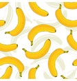 seamless pattern with yellow bananas banana fruit vector image