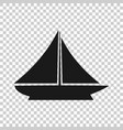 ship cruise sign icon in transparent style cargo vector image vector image