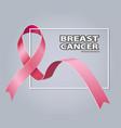 symbol pink ribbon breast cancer awareness vector image vector image