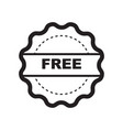 thin line free icon vector image vector image