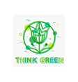 Think Green Concept Think Green Banner Think vector image vector image