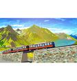 Train in Alps vector image