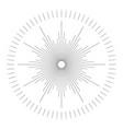 trendy cool design elemen starburst bursting rays vector image vector image