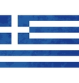 True proportions Greece flag with texture vector image vector image