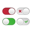 universal buttons vector image vector image