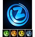 Vibrant 3d z letter vector image vector image