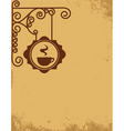 vintage cafe wall sign vector image vector image