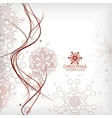 Vintage Christmas card with decorative snowflakes vector image vector image