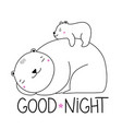 with white polar mother bear and little babear vector image