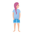 woman body cartoon vector image