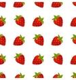 Strawberries seamless pattern vector image