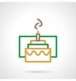 Color simple line festive cake icon vector image