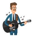 man plays the guitar vector image