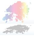 Map of Hong Kong SAR China with Dot Pattern vector image