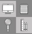 set knowledge education with creative icon vector image