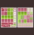 planner stickers vector image