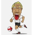 Soccer player England vector image
