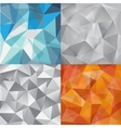set of faceted abstract crystal backgrounds vector image