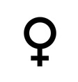 Woman icon on white background vector image
