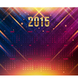 2015 year calendar Bright dynamic background vector image vector image