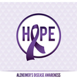 Alzheimers Awareness Badge vector image vector image