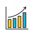 Bar Chart outline icon vector image