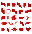 Biggest collection of red flags vector image vector image