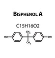 bisphenol a chemical formula infographics vector image vector image