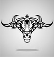 Bulls Head Tribal vector image vector image