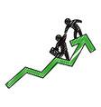 business mens growing statistics vector image vector image