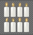 candles set white religion church prayer vector image vector image