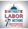 Card quote - without labor nothing prospers vector image vector image