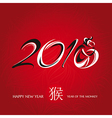 Chinese new year greeting card with monkey vector image vector image
