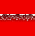 christmas with hanging snowflakes vector image vector image