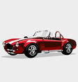 Classic sport red car AC Shelby Cobra Roadster vector image vector image