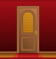 closed entrance door vector image vector image