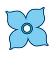 colored flower design vector image