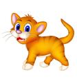 cute cat cartoon walking vector image vector image