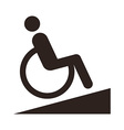 Disabled sign - Facilities for disabled vector image