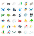 dispatcher icons set isometric style vector image vector image