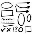 doodle design element lines arrows check vector image
