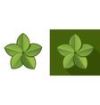 Eco leaf vector image vector image