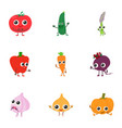 fennel icons set isometric style vector image vector image