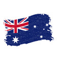 flag of australia grunge abstract brush stroke vector image vector image