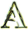 font letter A vector image vector image