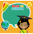 Girl with education icons vector image
