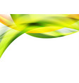 green yellow smooth liquid waves abstract elegant vector image vector image
