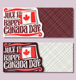 greeting cards for canada day vector image vector image
