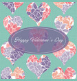 happy valentines day greeting card template with vector image vector image