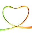 Heart from colorful waves Abstract background vector image vector image